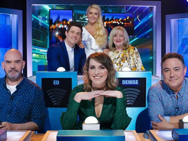 Marty Sheargold, Ed Kavalee, Melanie Bracewell, Ali Oetjen, Denise Scott and Sam Pang starred on HYBPA last night.