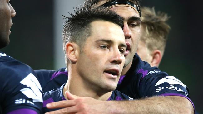 Cooper Cronk playing for the Storm. Picture: Wayne Ludbey