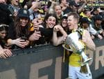 The 2017 AFL Grand Final between the Adelaide Crows and Richmond Tigers at the Melbourne Cricket Ground. Jack Riewoldt with the cup after the match. Picture: Alex Coppel.