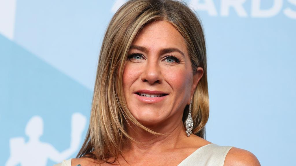 'Wear a damn mask' Aniston instructed her 34.4 million Instagram followers. Picture: AFP.