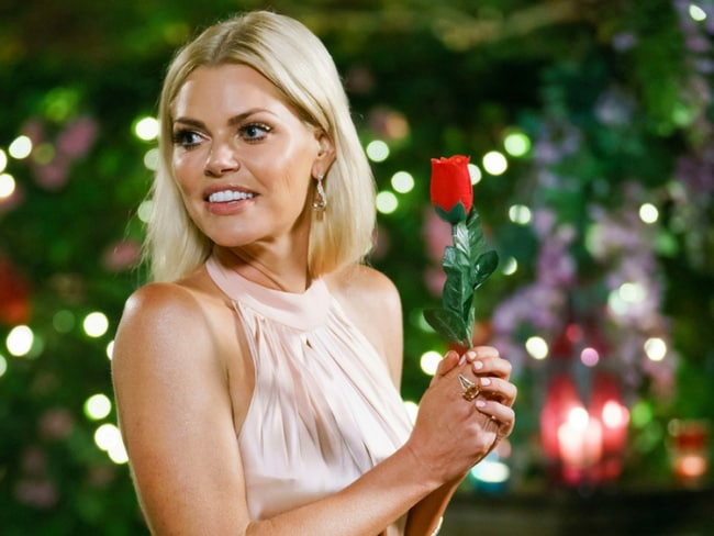 Who will Sophie Monk choose to give a rose to? Photo: Channel 10.