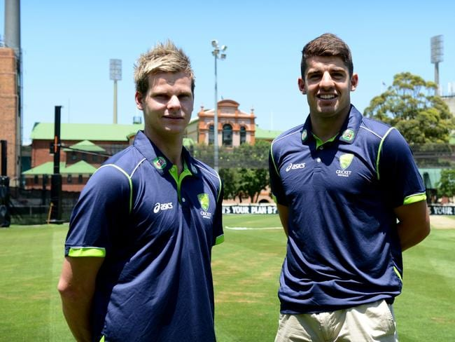 Steve Smith (L) and Moises Henriques have been teammates at NSW for the past decade.
