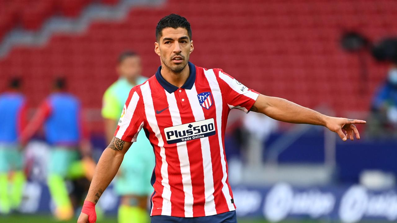 Atletico Madrid's Uruguayan forward Luis Suarez scored two and assisted another in just 20 minutes.