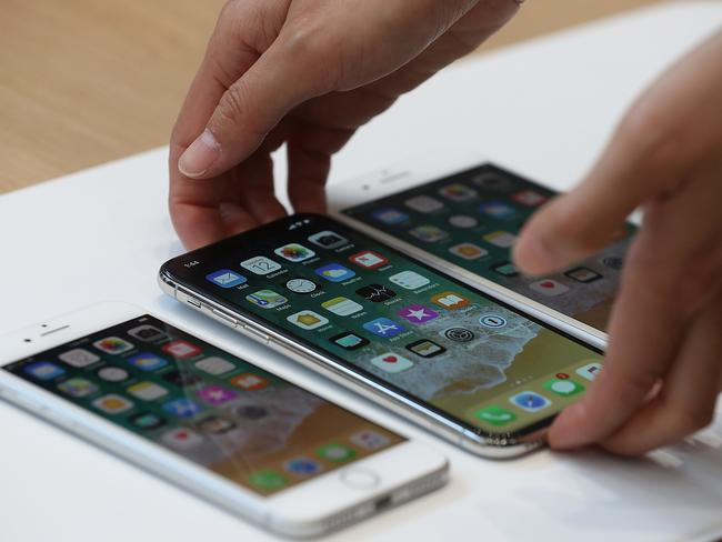Apple is expected to include a more affordable version in its new iPhone range. Picture: Justin Sullivan/Getty Images
