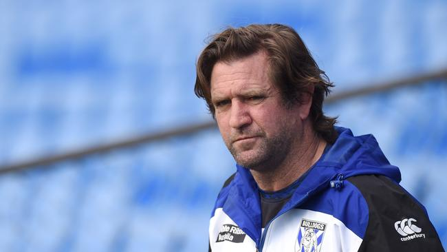 Des Hasler's messy departure from the Bulldogs is now the subject of mediation in the NSW Supreme Court. Photo: Paul Miller