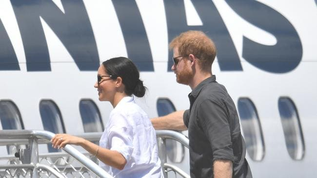 Britain's Prince Harry says he flies commercial where possible. Picture: AAP/Darren England