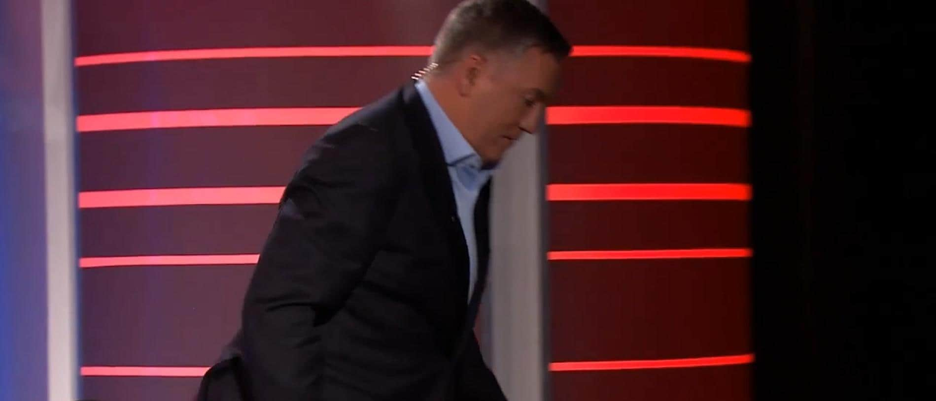 Eddie McGuire cheekily walked off the set of Footy Classified.