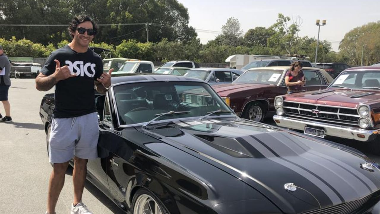 Rugby league great Johnathan Thurston is certainly enjoying his retirement, gifting himself a $400,000 1967 Shelby Mustang.