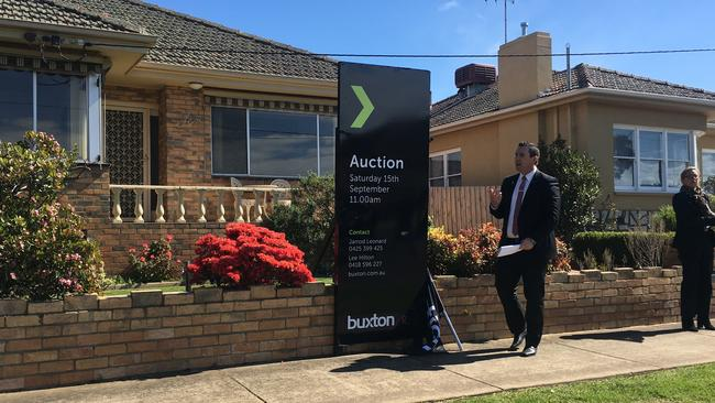 Buxton, East Geelong agent Jarrod Leonard auctions 10 Paterson St, East Geelong