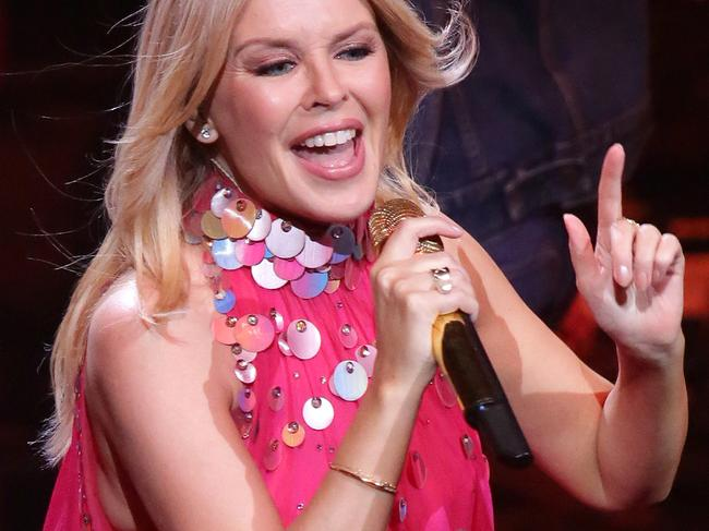 Kylie Minogue is set for an emotional return to Glastonbury festival, in Somerset, England. Picture: Christian Gilles