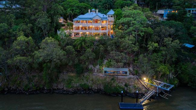This riverfront home at 50 Dauphin Tce, Highgate Hill, is on the market for $11m.
