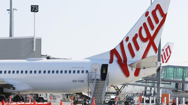 In addition to the Qantas flight, the man also travelled on board a Virgin Australia flight from Canberra to Sydney on February 28, 2020. Picture: AAP Image/Claudia Baxter.
