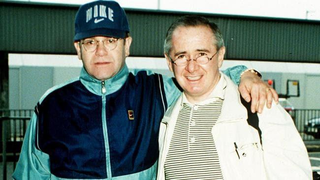 Elton John with the real-life John Reid