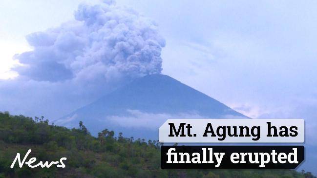 Bali Volcano Mount Agung Volcano Erupts Again Shoots Ash 700m Into Air