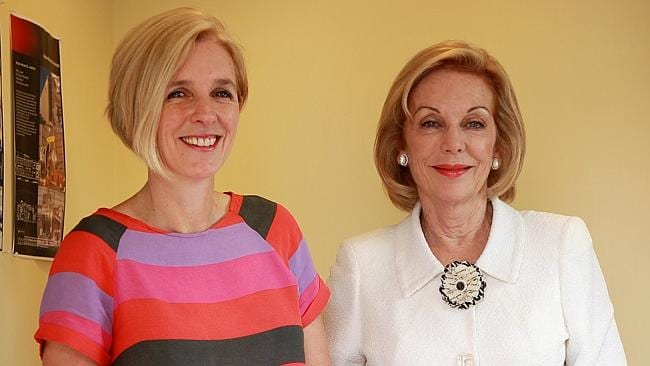 Ita Buttrose with her daughter Kate McDonald.
