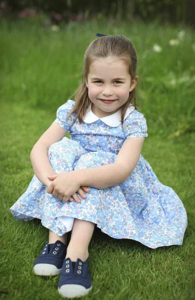 Princess Charlotte is celebrating her birthday on Thursday. Picture: Duchess of Cambridge/Kensington Palace via AP