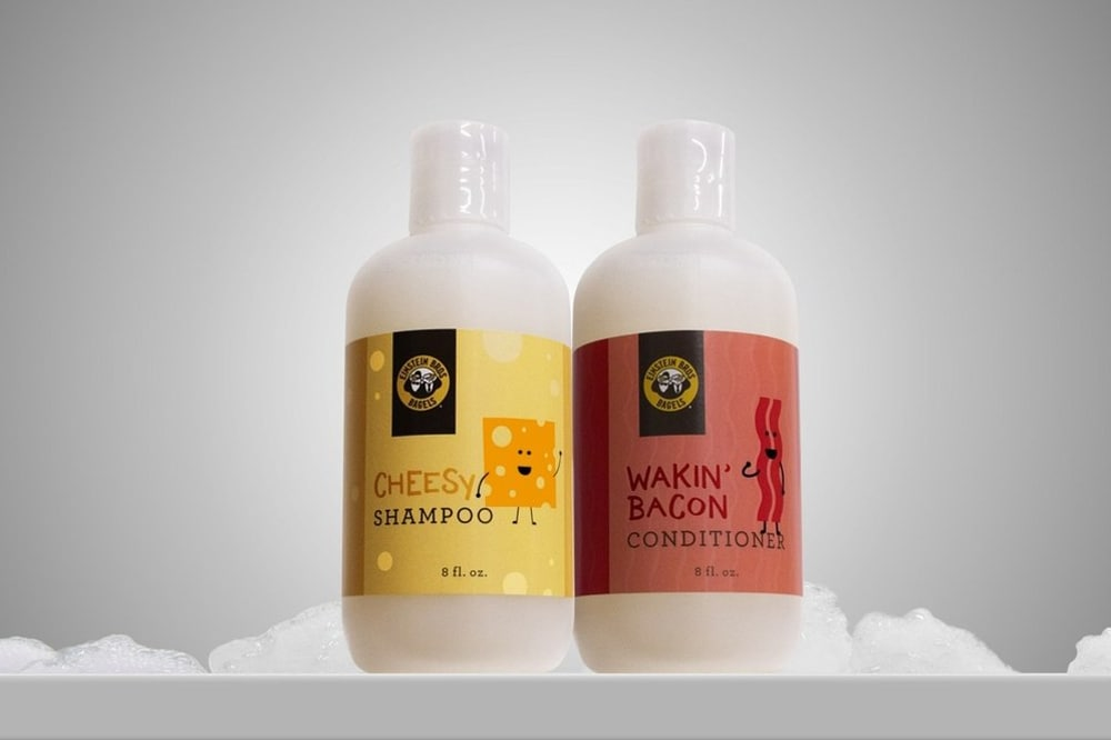 Cheese and bacon shampoo and conditioner now exists
