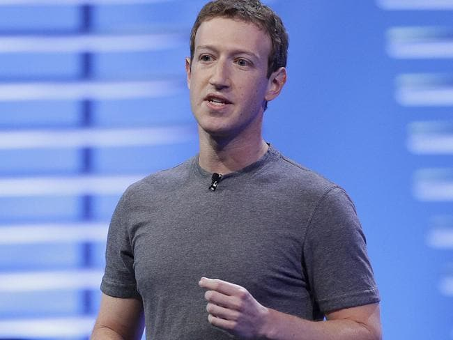 Mark Zuckerberg has hired 3000 people to end violence on Facebook Live. Picture: AP