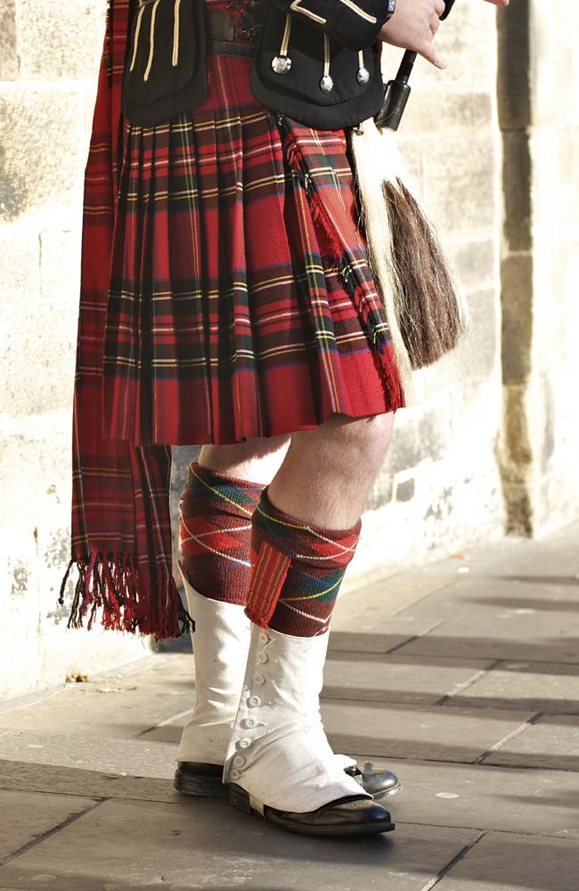 A 'true Scotsman' does not wear any underwear beneath his traditional kilt.