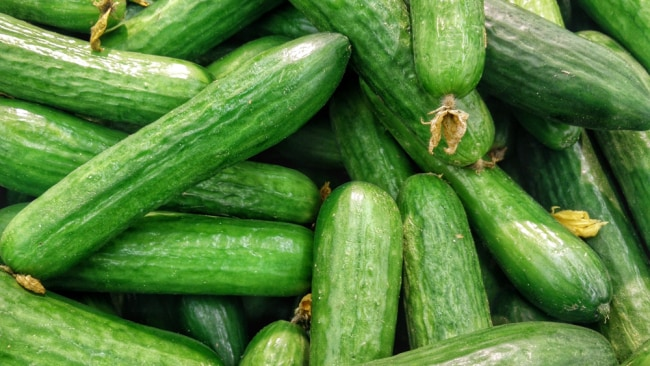 Cucumbers are low in carbs and calories. Image: Unsplash.