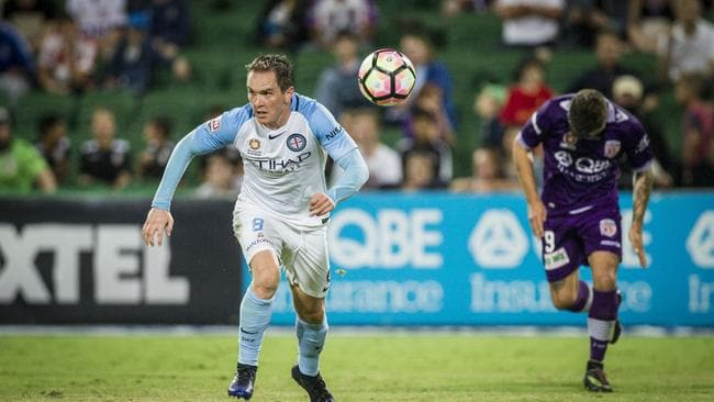 Neil Kilkenny for Melbourne City during a clash with Perth Glory last season. Picture: AAP