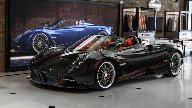 A Pagani Huayra roadster on sale in Australia for $5.5m.
