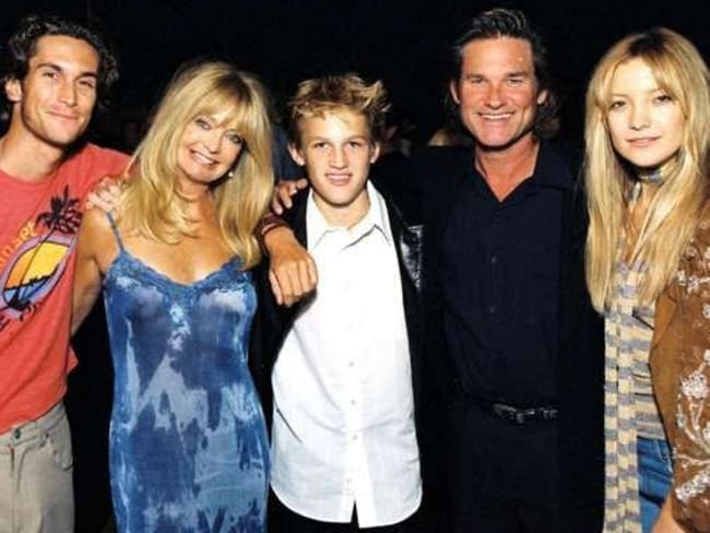 Oliver Hudson, Goldie Hawn, Wyatt Russell, Kurt Russell and Kate Hudson. Picture: Supplied