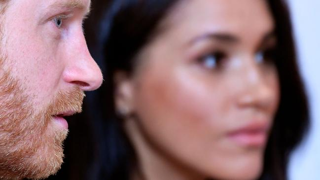 Harry and Meghan, royals no more. Picture: AFP