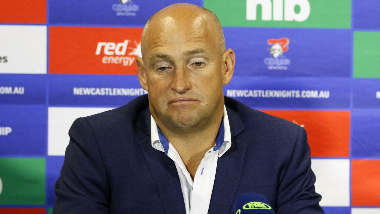 Knights coach Nathan Brown is under pressure to turn the team's form around.