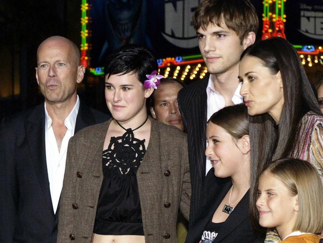 Everything changed when Rumer Willis (second from left) came to Hollywood at age 15. Picture: AP Photo/Chris Weeks.