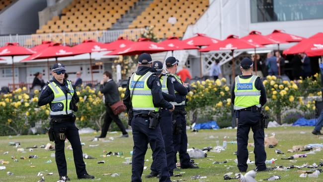 Police praised crowd behaviour at Flemington. Picture: Christian Gilles