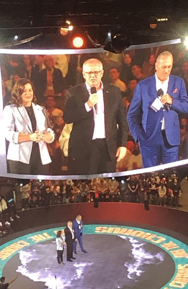 PM Scott Morrison and wife Jenny at the Hillsong conference in Sydney.