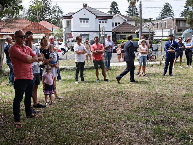Bidders hope to snap up a property at auction in Sydney. Picture: Adam Yip/ The Manly Daily