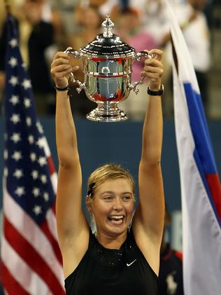 Maria Sharapova at the 2006 US Open (Photo by Clive Brunskill/Getty Images)
