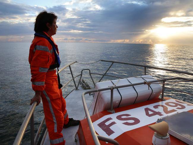 Hope ... Cecile Dupre, a member of volunteer coast guard, says the vastness of the Indian Ocean will be tricky to navigate. Picture: Cameron Richardson