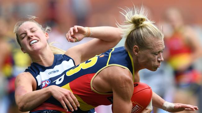 Alediade Crows AFLW star Erin Phillips.