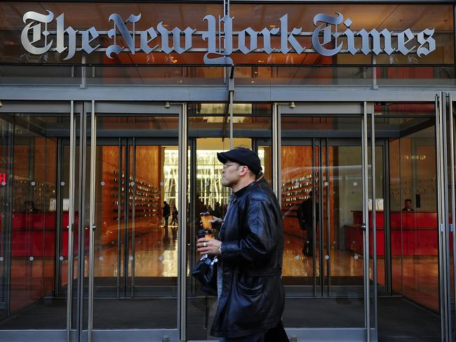The New York Times is one of the world's most respected news publications. Picture: AFP PHOTO/EMMANUEL DUNAND