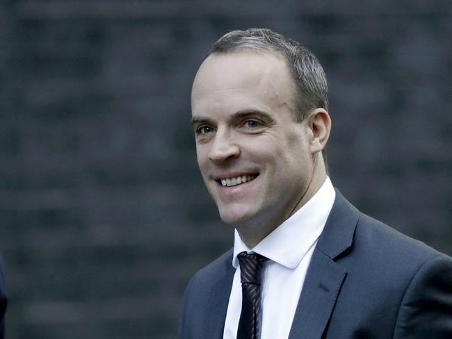 Britain's former Secretary of State for Exiting the European Union Dominic Raab. He is expected to mount a strong challenge for the top job. Picture: AP
