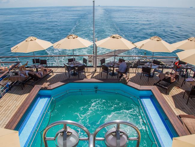 Pool on the Silver Discoverer, Silversea Cruises.