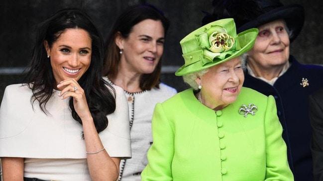 Meghan Markle and Queen Elizabeth.