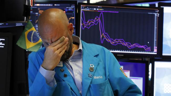 The floor of the New York Stock Exchange hasn't been a happy place of late. Picture: AP