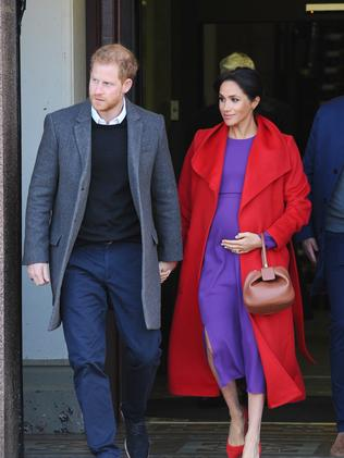 Soon-to-be parents Meghan and Harry. Picture: Trevor Adams/Matrix