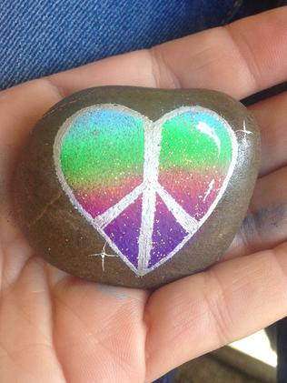 Peace and love rock. Picture: supplied