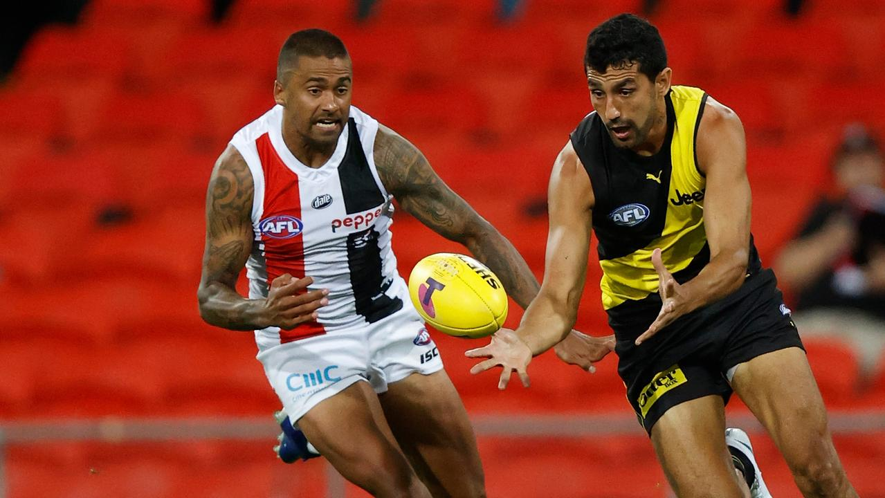 Bradley Hill of the Saints had just 11 disposals. Picture: Michael Willson