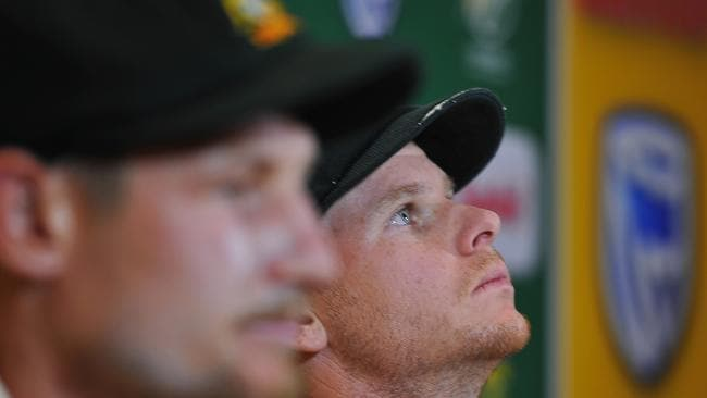 Steven Smith (capt) and Cameron Bancroft (L) own up to ball tampering.