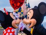 ESCAPE: Mickey Mouse, Minnie Mouse, Cinderella Castle, Disneyland, Paris. Picture: Disneyland Paris