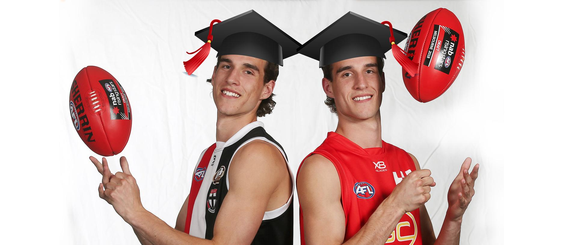 The King twins aced their Year 12 studies while also being drafted in the top ten.
