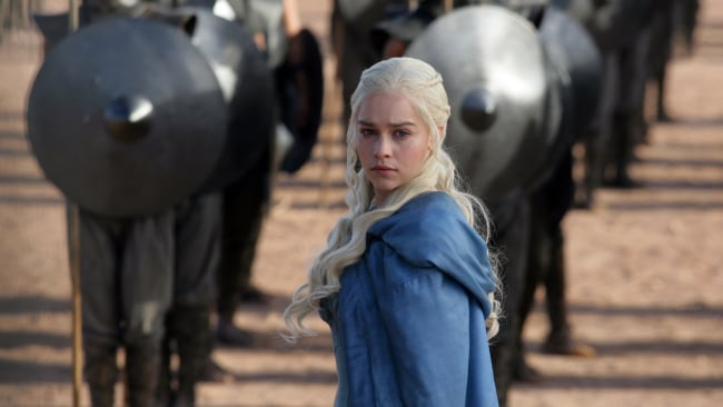 Emilia as powerful, 'Mother of Dragons, Daenerys Targaryen on Game of Thrones. Photo: HBO