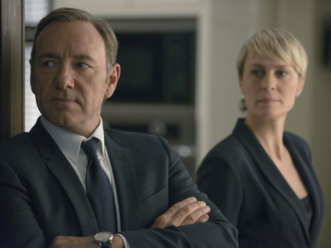 Kevin Spacey and Robin Wright in Netflix's House of Cards. Picture: Nathaniel Bell