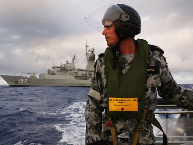 HMAS searches for MH370 in the Indian Ocean in 2014. Picture: AFP